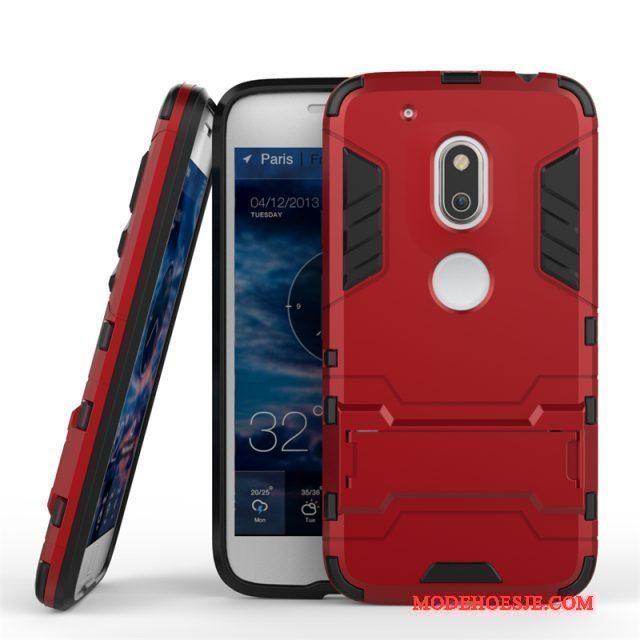 Hoesje Moto G4 Play Ondersteuning Goud Anti-fall, Hoes Moto G4 Play Bescherming Telefoon Dubbele