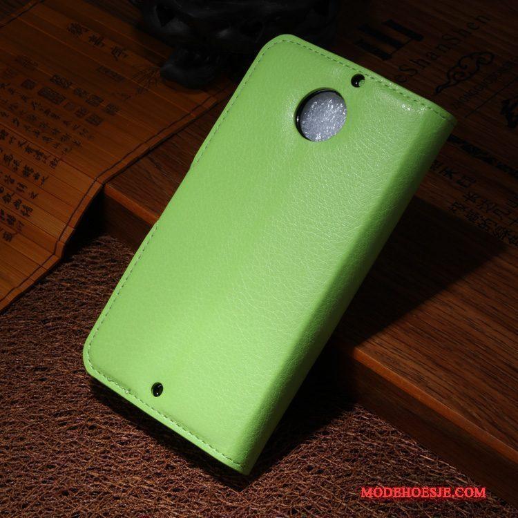 Hoesje Moto X Leer Telefoon Groen, Hoes Moto X Bescherming
