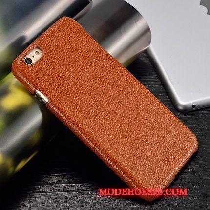 Hoesje Moto X Luxe Pas Hard, Hoes Moto X Leer Achterklep Oranje