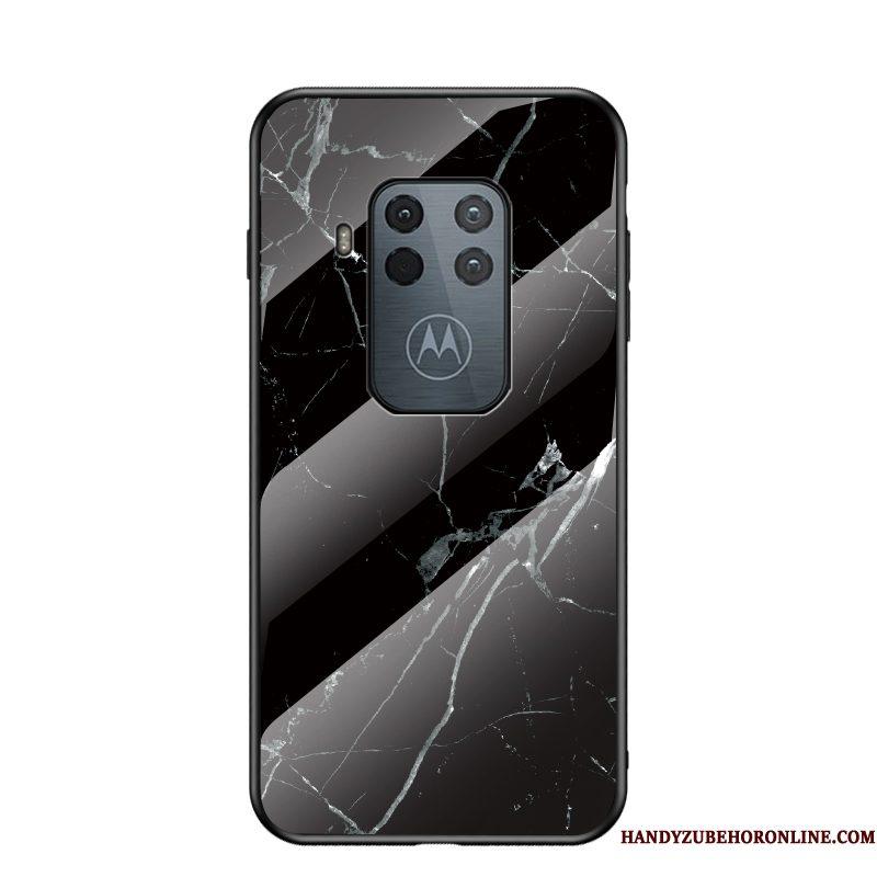 Hoesje Motorola One Zoom Zakken Blauw Trend, Hoes Motorola One Zoom Bescherming Anti-falltelefoon