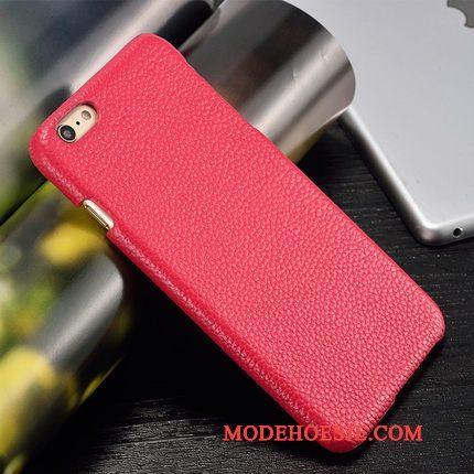 Hoesje Samsung Galaxy A3 2015 Leer Roze Hard, Hoes Samsung Galaxy A3 2015 Bescherming Pas Achterklep