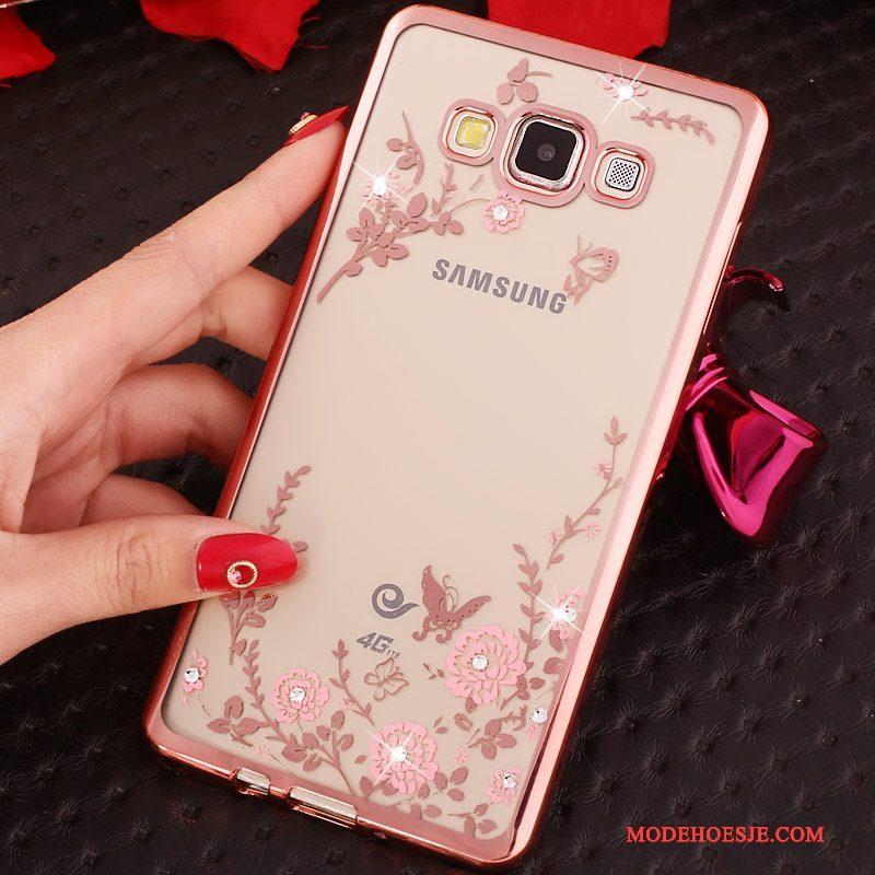 Hoesje Samsung Galaxy A3 2015 Ondersteuning Anti-fall Goud, Hoes Samsung Galaxy A3 2015 Strass Telefoon