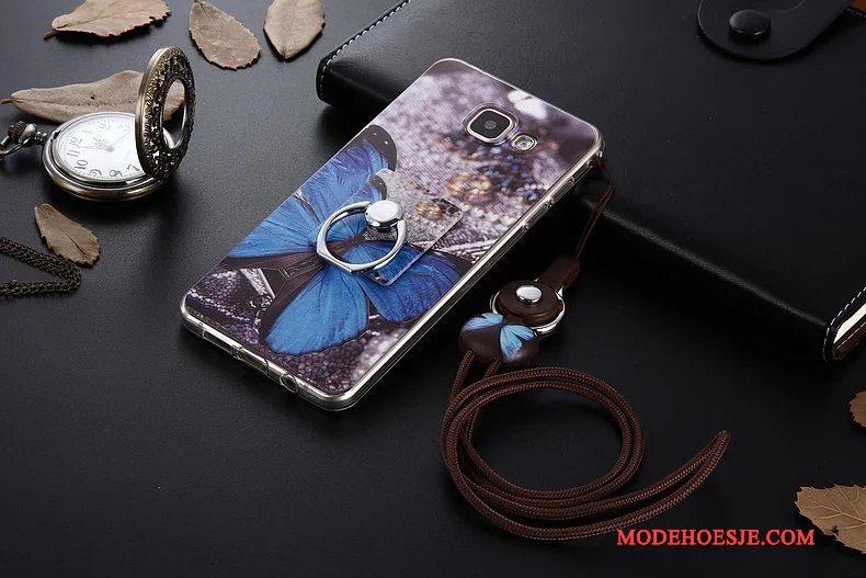 Hoesje Samsung Galaxy A5 2017 Spotprent Donkerblauwtelefoon, Hoes Samsung Galaxy A5 2017 Zacht