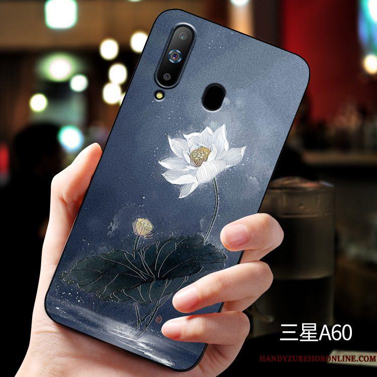 Hoesje Samsung Galaxy A60 Bescherming Pas Anti-fall, Hoes Samsung Galaxy A60 Zakken Groen Schrobben