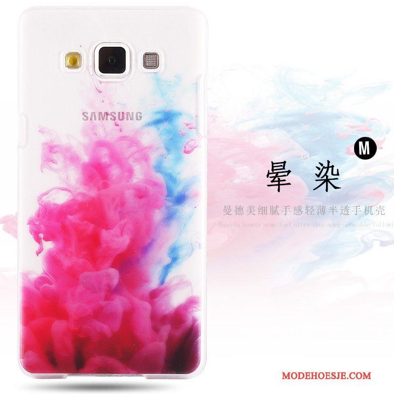 Hoesje Samsung Galaxy A8 Geschilderd Hard Groen, Hoes Samsung Galaxy A8 Bescherming Telefoon Schrobben