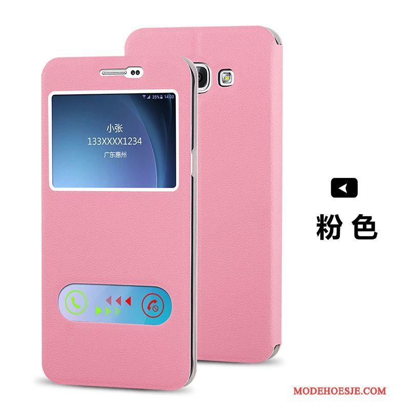 Hoesje Samsung Galaxy A8 Leer Telefoon Trend, Hoes Samsung Galaxy A8 Folio