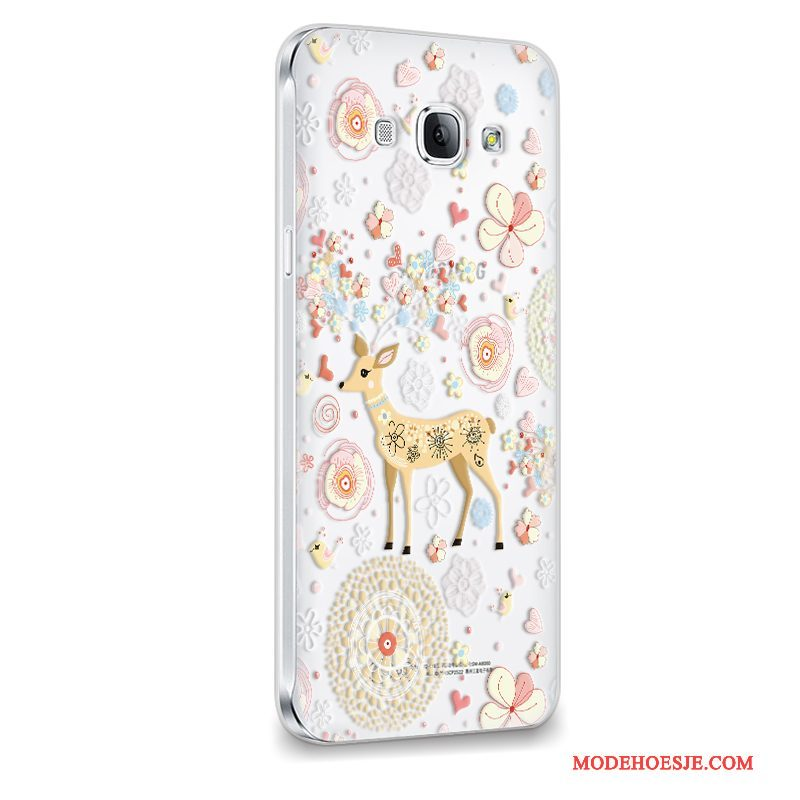 Hoesje Samsung Galaxy A8 Siliconen Anti-fall Purper, Hoes Samsung Galaxy A8 Zacht Licht Trend