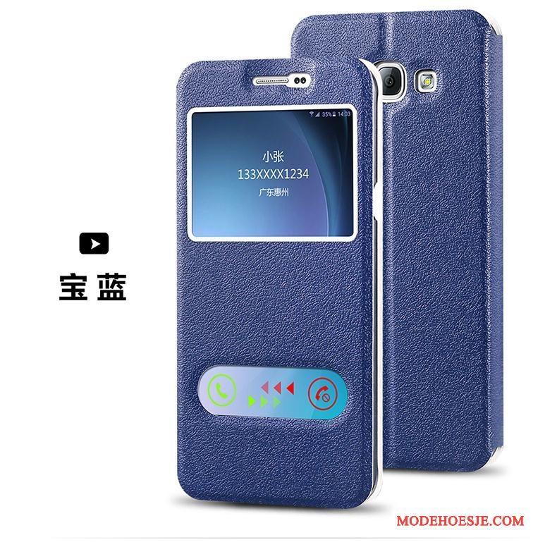 Hoesje Samsung Galaxy J5 2015 Folio Telefoon Wit, Hoes Samsung Galaxy J5 2015 Leer