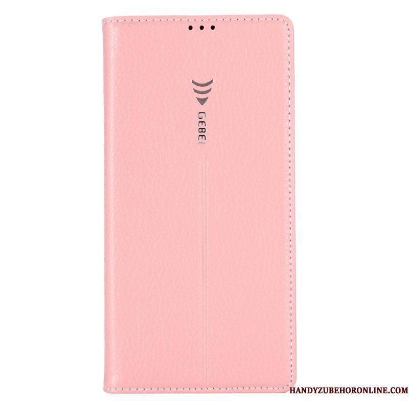 Hoesje Samsung Galaxy Note 10+ Leer Blauw, Hoes Samsung Galaxy Note 10+ Bescherming