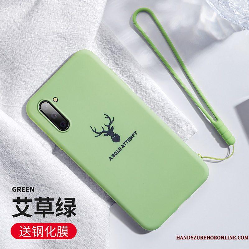 Hoesje Samsung Galaxy Note 10 Siliconen Lichttelefoon, Hoes Samsung Galaxy Note 10 Anti-fall Roze