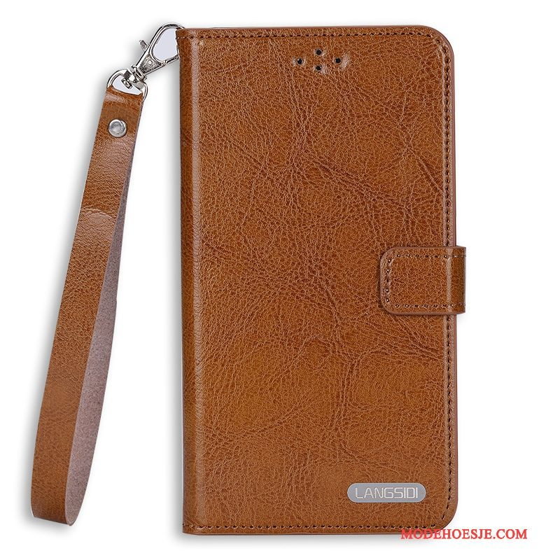 Hoesje Samsung Galaxy Note 3 Leer Duntelefoon, Hoes Samsung Galaxy Note 3 Folio Hard Hanger