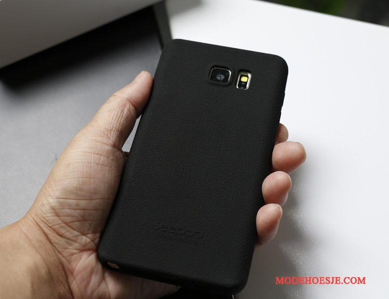 Hoesje Samsung Galaxy Note 5 Siliconen Grijs Doek, Hoes Samsung Galaxy Note 5 Bescherming Telefoon