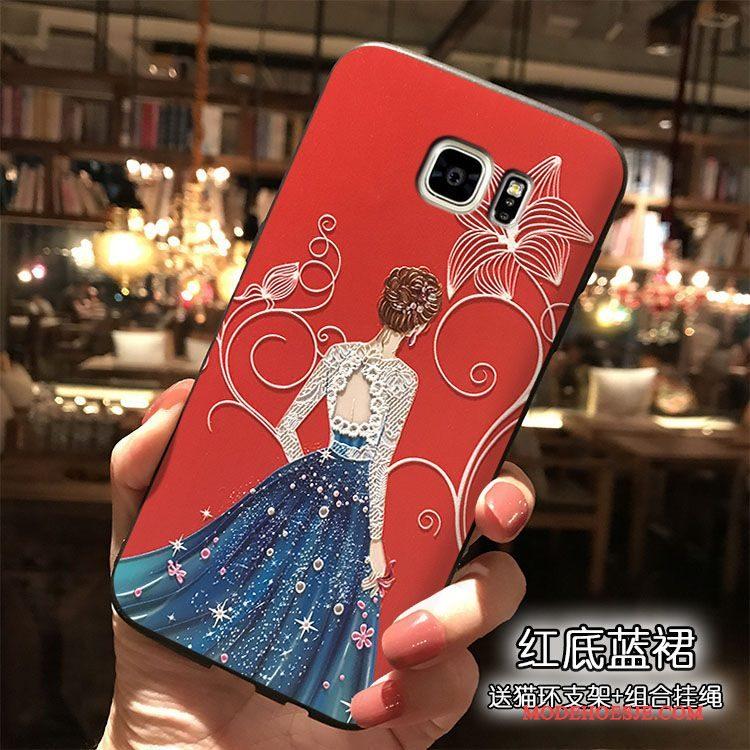 Hoesje Samsung Galaxy Note 5 Siliconen Telefoon Rood, Hoes Samsung Galaxy Note 5 Persoonlijk Hanger