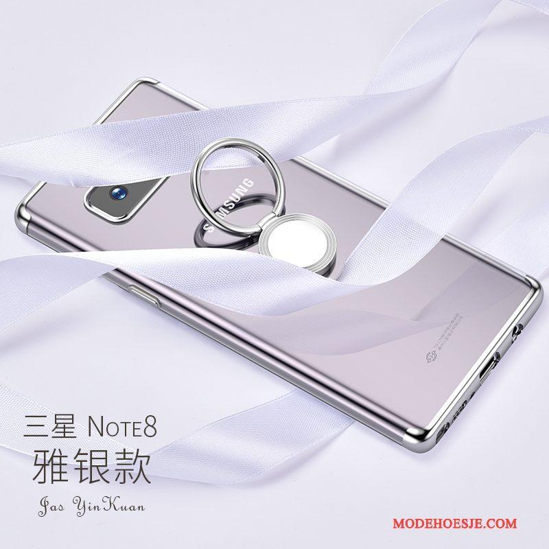Hoesje Samsung Galaxy Note 8 Ondersteuning Zilver Nieuw, Hoes Samsung Galaxy Note 8 Zakken Goud Anti-fall