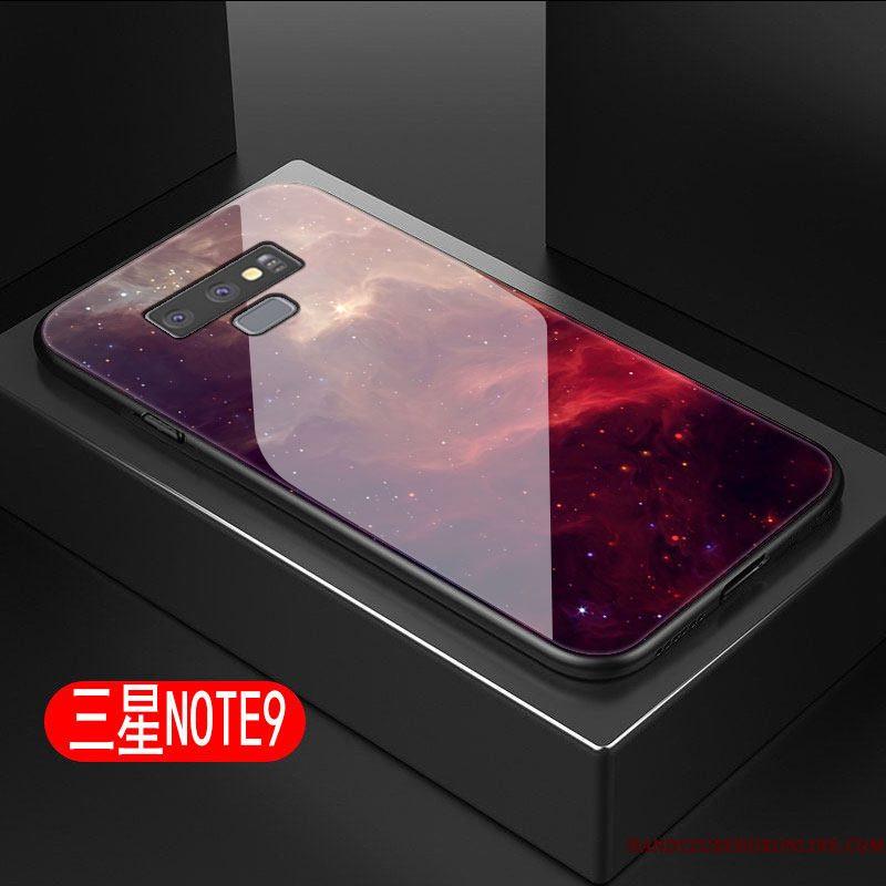Hoesje Samsung Galaxy Note 9 Zacht Telefoon Glas, Hoes Samsung Galaxy Note 9 Scheppend Hard Sterrenhemel