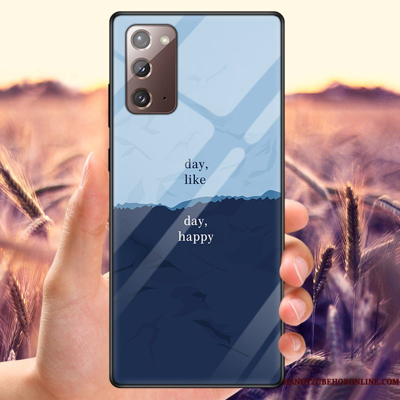 Hoesje Samsung Galaxy Note20 Bescherming Pas Lovers, Hoes Samsung Galaxy Note20 Anti-fall Blauw