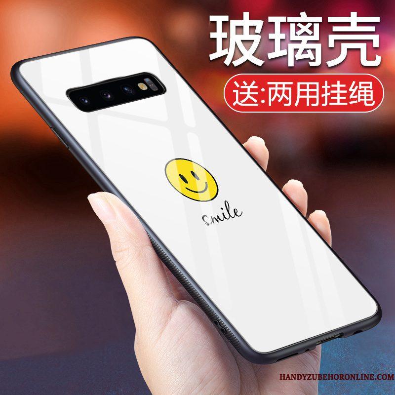 Hoesje Samsung Galaxy S10+ Bescherming Eenvoudige Patroon, Hoes Samsung Galaxy S10+ Zacht Smiley Mooie