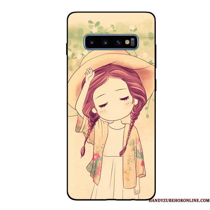 Hoesje Samsung Galaxy S10 Zakken Schrobben Zwart, Hoes Samsung Galaxy S10 Zacht Telefoon Pas