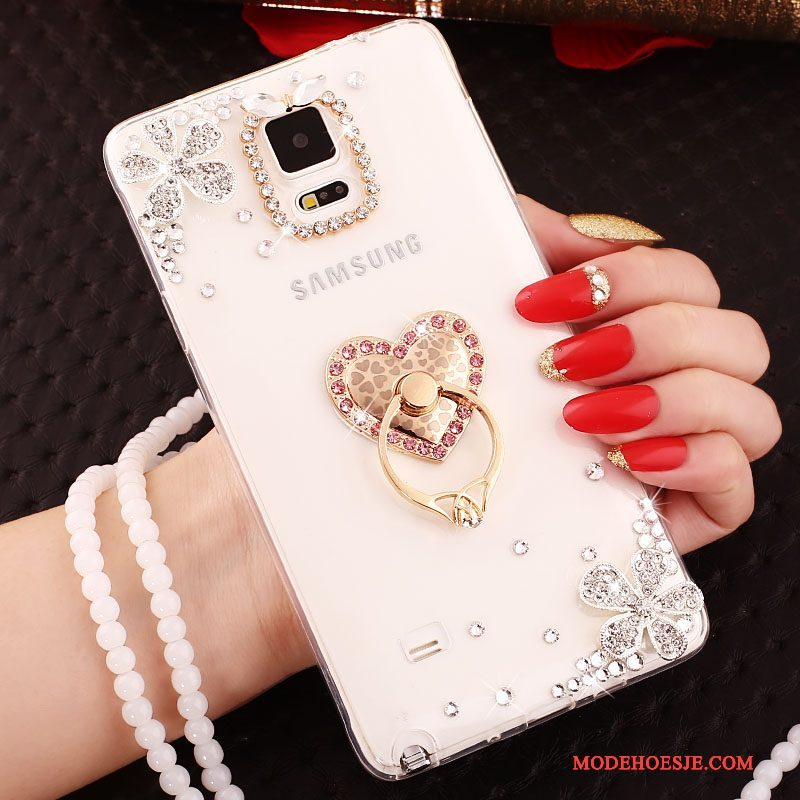Hoesje Samsung Galaxy S4 Siliconen Roze Hanger, Hoes Samsung Galaxy S4 Zacht Anti-fall Ring