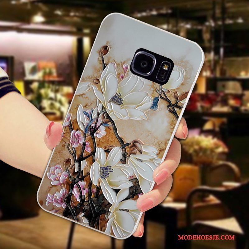 Hoesje Samsung Galaxy S7 Edge Bescherming Vers Bloemblaadjes, Hoes Samsung Galaxy S7 Edge Zakken Anti-falltelefoon