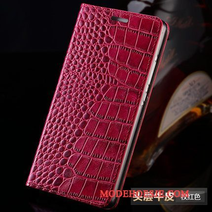 Hoesje Samsung Galaxy S8+ Bescherming Anti-falltelefoon, Hoes Samsung Galaxy S8+ Folio Wijnrood Pas