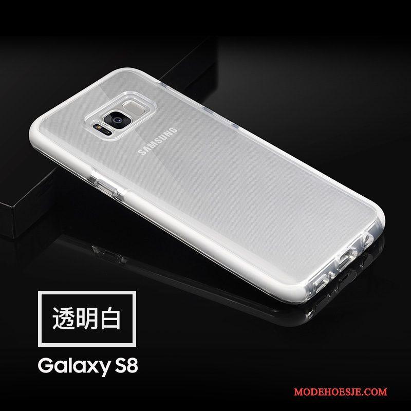 Hoesje Samsung Galaxy S8 Zacht Telefoon Groen, Hoes Samsung Galaxy S8 Siliconen Anti-fall