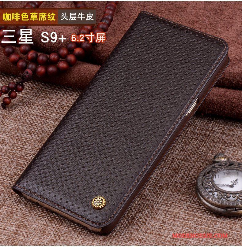Hoesje Samsung Galaxy S9+ Bescherming Zwarttelefoon, Hoes Samsung Galaxy S9+ Zakken Anti-fall Nieuw