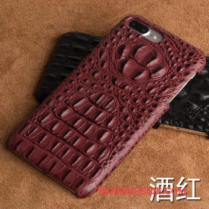 Hoesje Samsung Galaxy S9 Leer Rood Patroon, Hoes Samsung Galaxy S9 Bescherming Driedimensionaal Hard