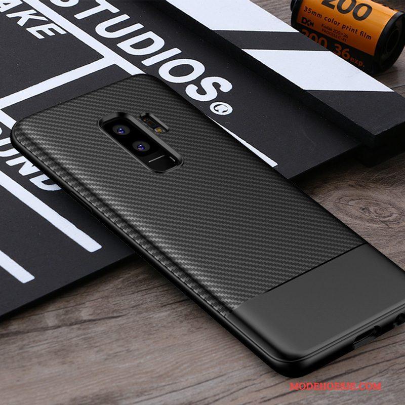 Hoesje Samsung Galaxy S9+ Siliconen Bedrijf Schrobben, Hoes Samsung Galaxy S9+ Bescherming Telefoon Anti-fall