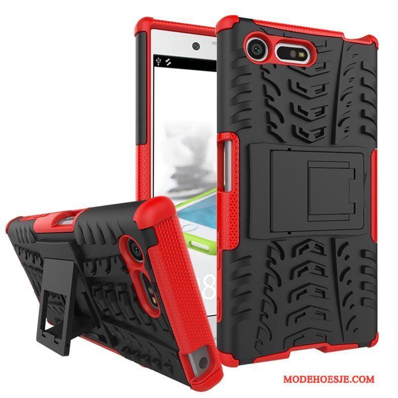 Hoesje Sony Xperia X Compact Zakken Purpertelefoon, Hoes Sony Xperia X Compact Ondersteuning Anti-fall
