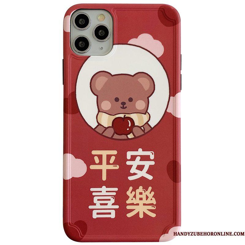 Hoesje iPhone 11 Pro Bescherming Berentelefoon, Hoes iPhone 11 Pro Zacht Chinese Stijl Lovers