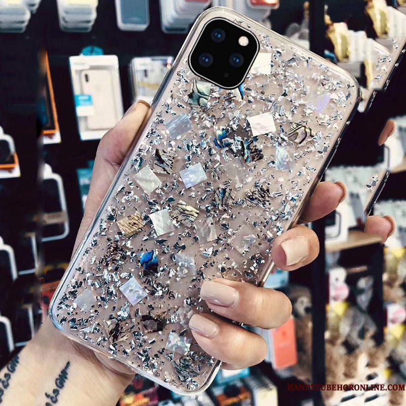 Hoesje iPhone 11 Pro Siliconen Goud Persoonlijk, Hoes iPhone 11 Pro Trendy Merk Anti-fall