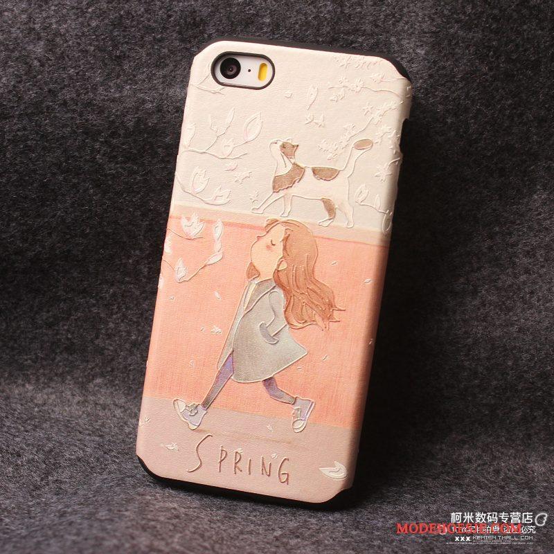 Hoesje iPhone 5/5s Scheppend Persoonlijk Blauw, Hoes iPhone 5/5s Zakken Roze Hanger