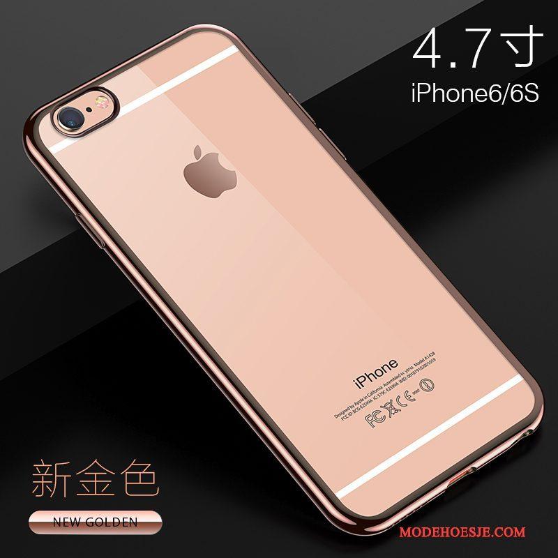 Hoesje iPhone 6/6s Plus Siliconen Doorzichtig Dun, Hoes iPhone 6/6s Plus Zacht Anti-fall Trend