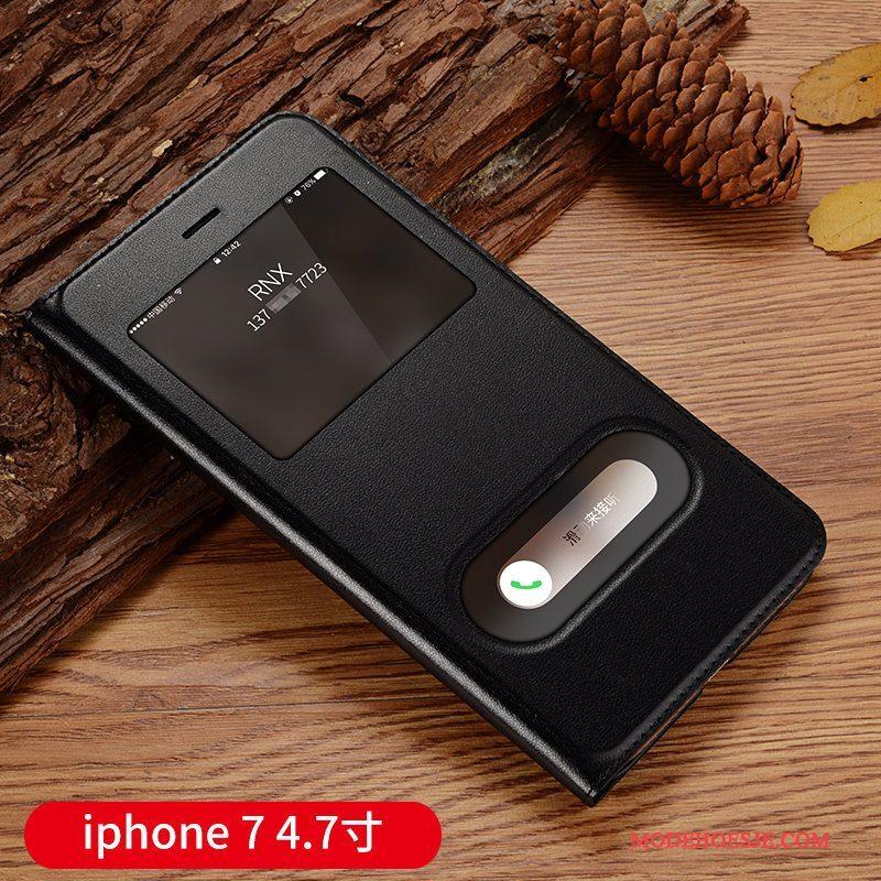 Hoesje iPhone 7 Bescherming Goudtelefoon, Hoes iPhone 7 Leer