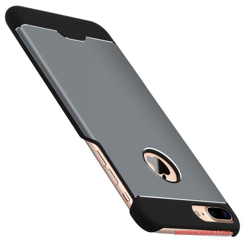 Hoesje iPhone 7 Plus Metaal Hard Wijnrood, Hoes iPhone 7 Plus Achterkleptelefoon