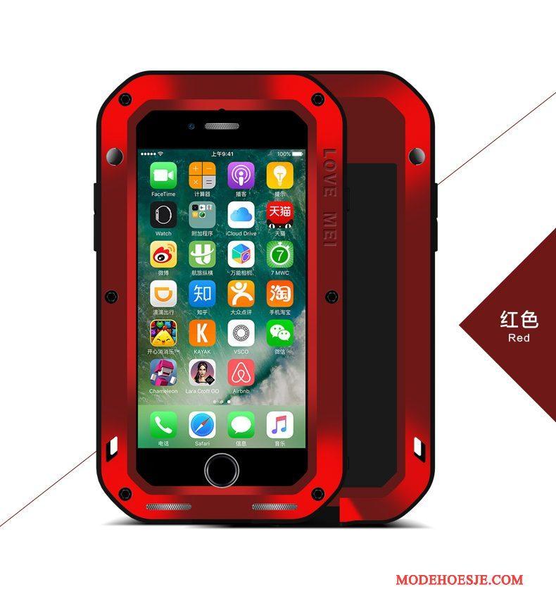 Hoesje iPhone 7 Plus Metaal Outdoortelefoon, Hoes iPhone 7 Plus Bescherming Drie Verdedigingen Anti-fall