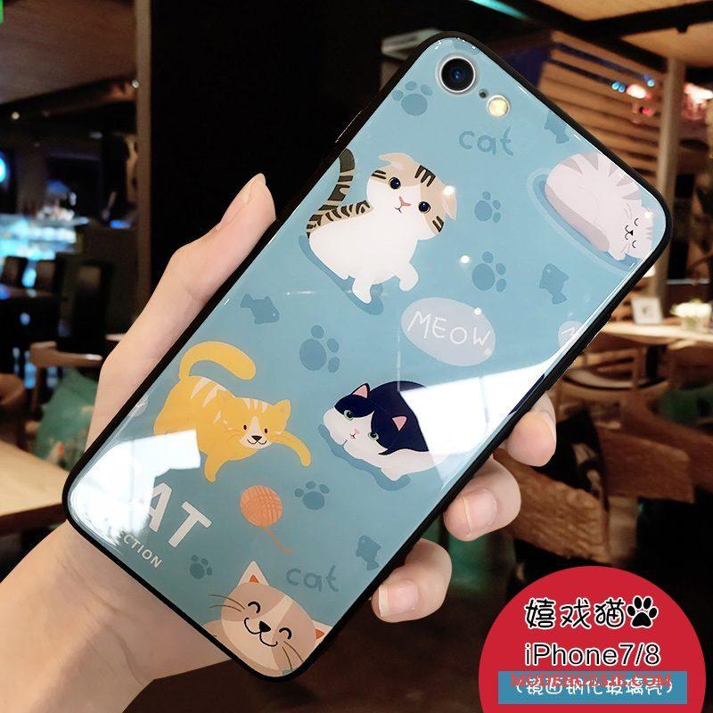 Hoesje iPhone 7 Spotprent Trendy Merk Persoonlijk, Hoes iPhone 7 Bescherming Lichtblauw Anti-fall