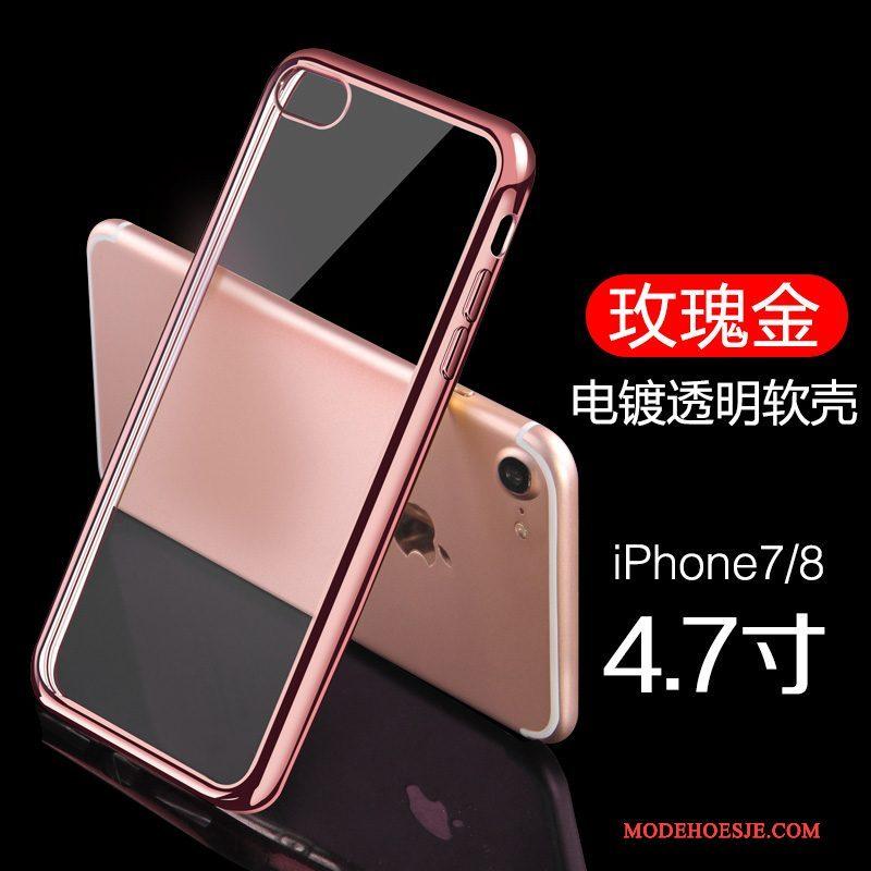 Hoesje iPhone 8 Bescherming Goudtelefoon, Hoes iPhone 8 Plating Dun