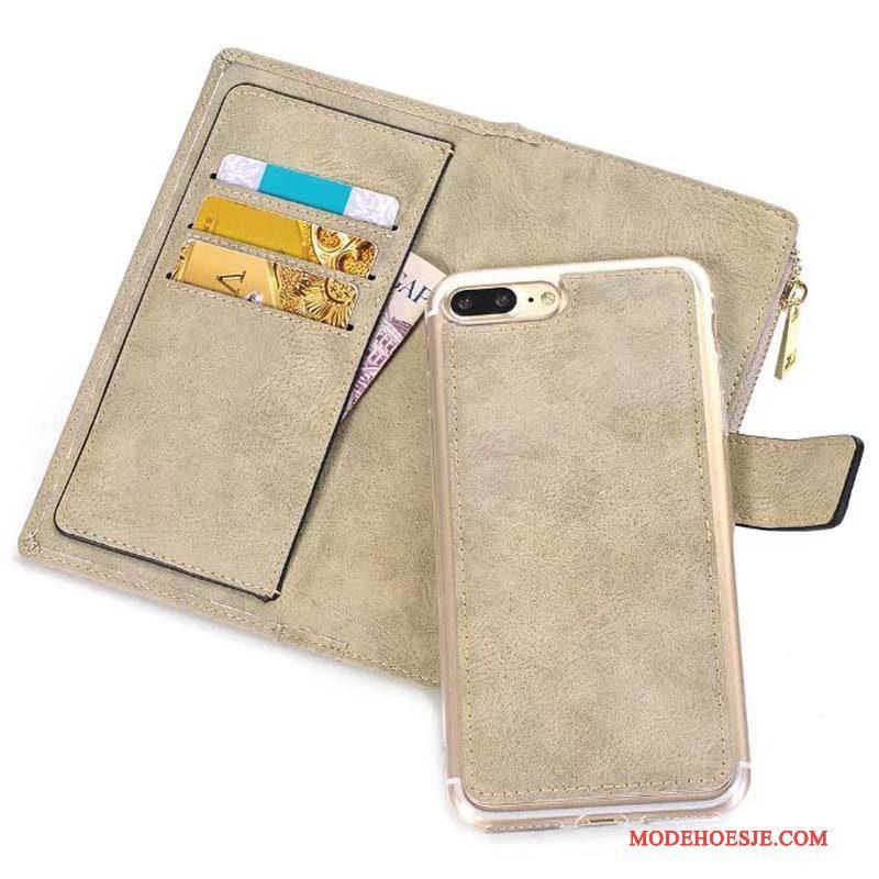 Hoesje iPhone 8 Plus Portemonnee , Hoes iPhone 8 Plus Leer