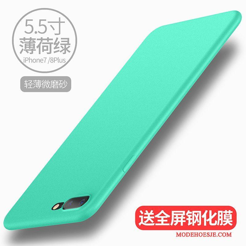 Hoesje iPhone 8 Plus Zacht Schrobben Wit, Hoes iPhone 8 Plus Siliconen Groen Nieuw