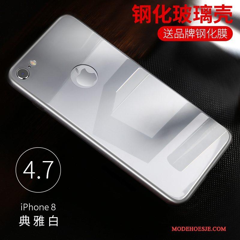 Hoesje iPhone 8 Plus Zakken Gehard Glas Anti-fall, Hoes iPhone 8 Plus Zwarttelefoon