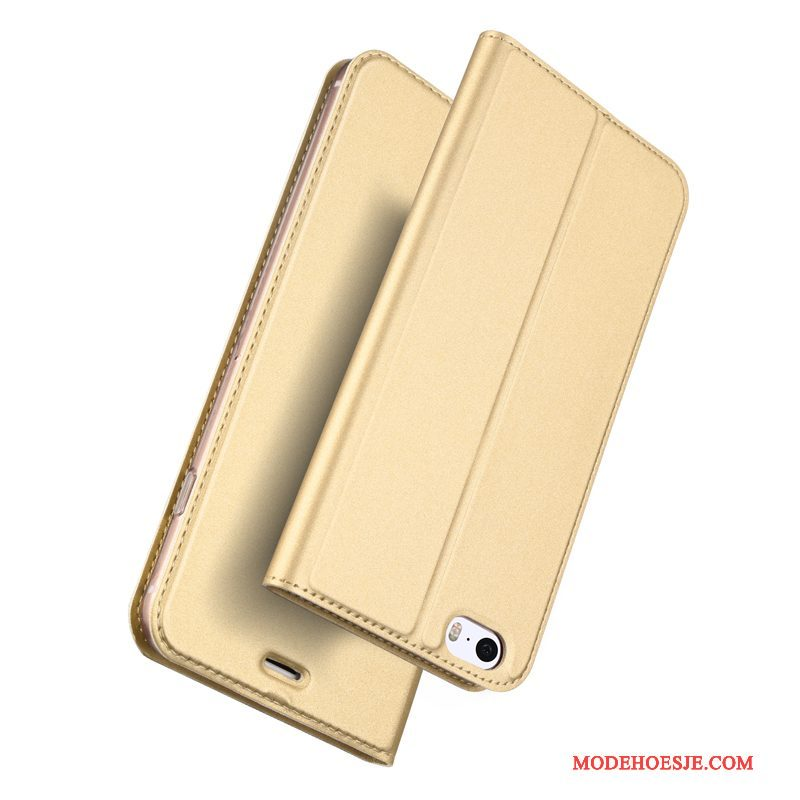 Hoesje iPhone Se Leer Lichte En Dun Goud, Hoes iPhone Se Zakken Bedrijf