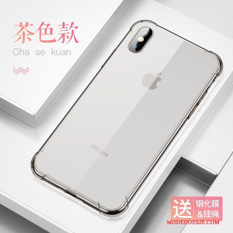 Hoesje iPhone X Scheppend Telefoon Persoonlijk, Hoes iPhone X Siliconen Doorzichtig Gasbag