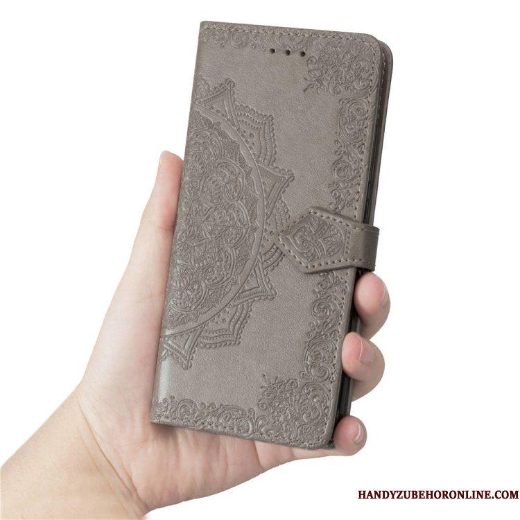 Hoesje iPhone Xr Siliconen Telefoon Purper, Hoes iPhone Xr Folio Bloemen Hanger