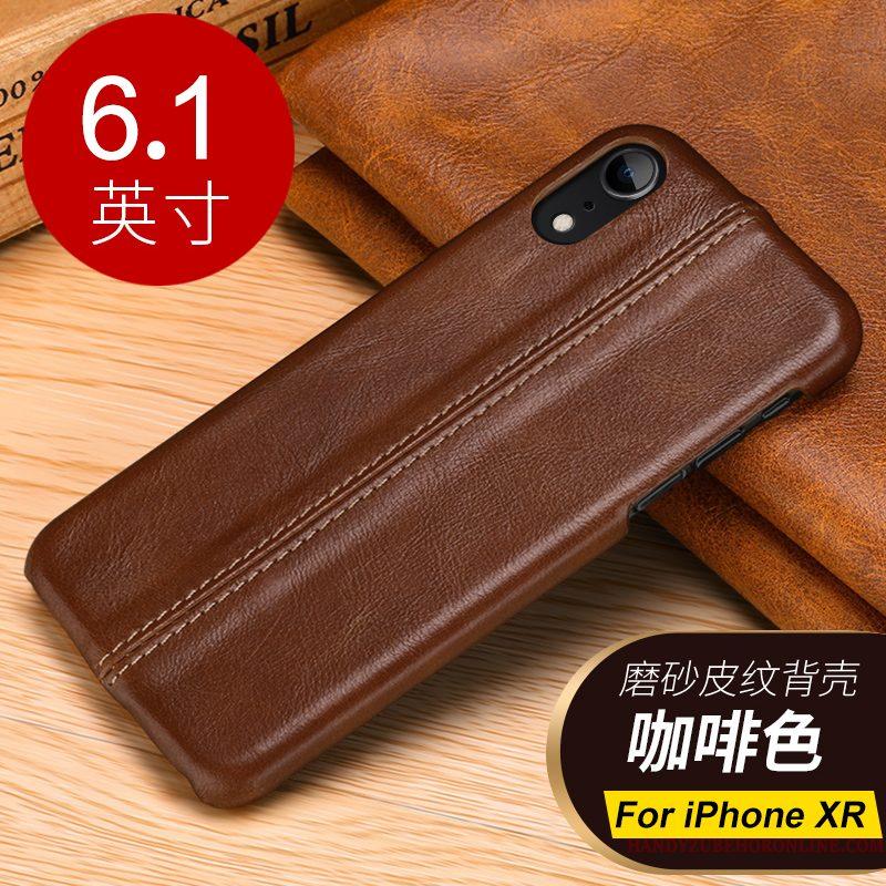 Hoesje iPhone Xr Zakken Koe Anti-fall, Hoes iPhone Xr Leer Bedrijf Trend