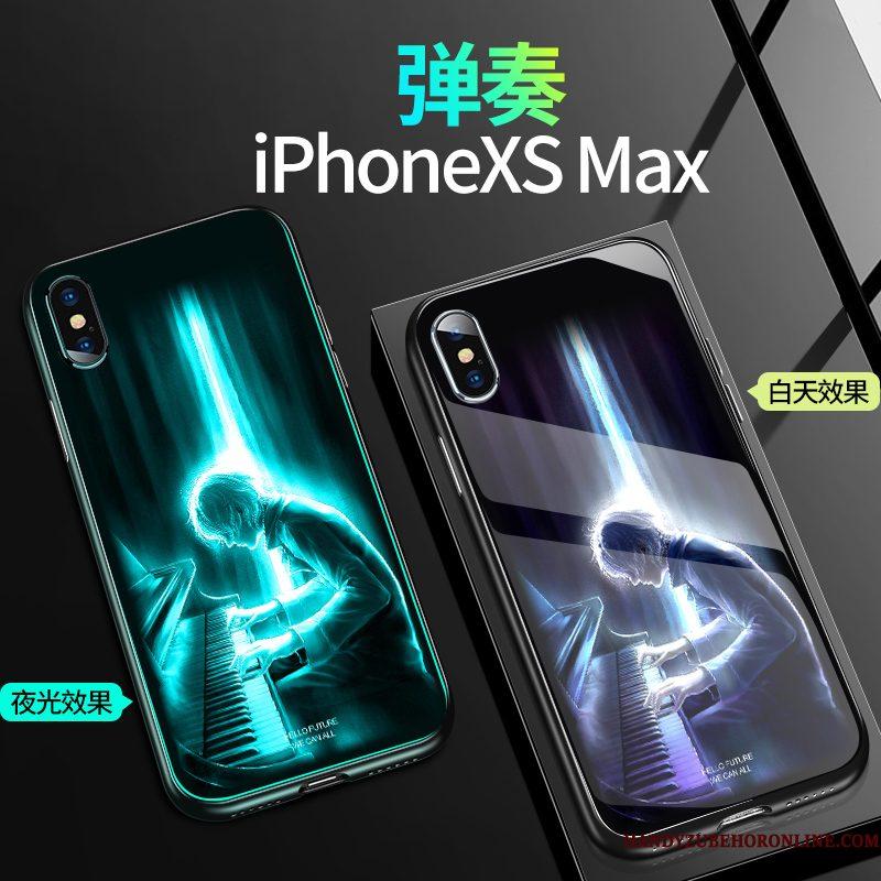 Hoesje iPhone Xs Max Zakken Anti-fall Trendy Merk, Hoes iPhone Xs Max Siliconen Glas Nieuw