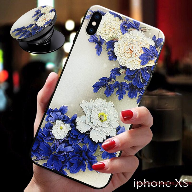 Hoesje iPhone Xs Zacht Anti-falltelefoon, Hoes iPhone Xs Bescherming Nieuw Net Red