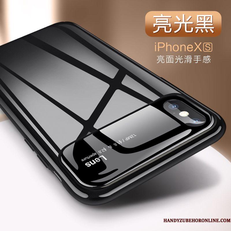 Hoesje iPhone Xs Zakken Geel Anti-fall, Hoes iPhone Xs Bescherming Telefoon Nieuw