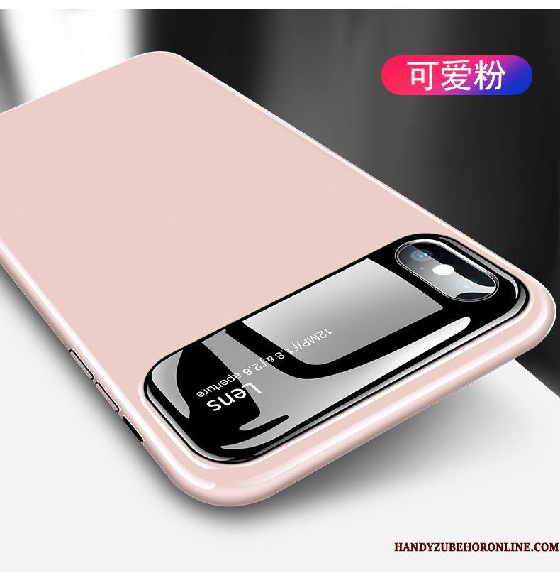 Hoesje iPhone Xs Zakken Spiegel Nieuw, Hoes iPhone Xs Glas Net Red